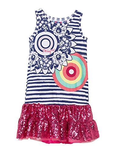 Desigual Toddler Girls Dress Praia, Fuchsia Rose, Large/11/12 by Desigual
