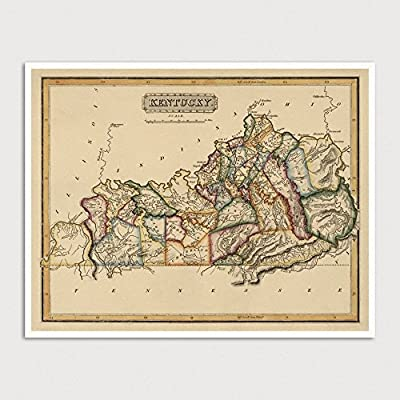 Old Kentucky Map Art Print 1817 Archival Reproduction