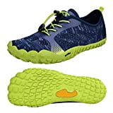 QANSI Mens Runnig Shoes Mesh Breathable Minimalist Trail Running Shoes Outdoor Walking Shoes(Size 6.5 M US)