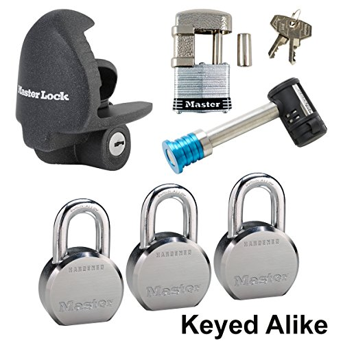Trailer Lock Unattended Coupler (Master Lock - 6 Trailer Locks Keyed Alike #6KA-3796230-37)