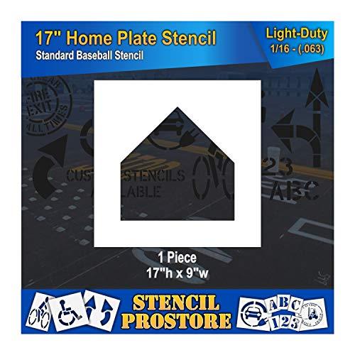 - Athletic Marking Stencil - 17 inch -Baseball Home Plate Diamond Stencil - 17