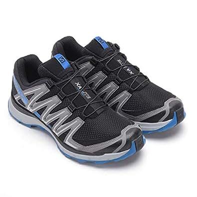 SALOMON Men's XA Lite Trail Running Shoes, Black (Black/Quiet Shade/Imperial Blue), 8 AU