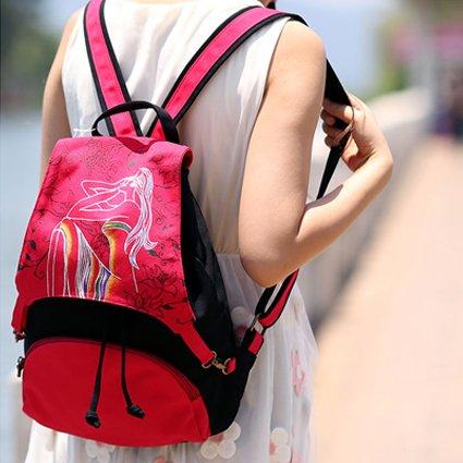 Girl tracolla red a zaino Marea tela borsa borsa casual Brown donna viaggio da BISSER di a tracolla borsa femminile vento nazionale rFrXpxgqS