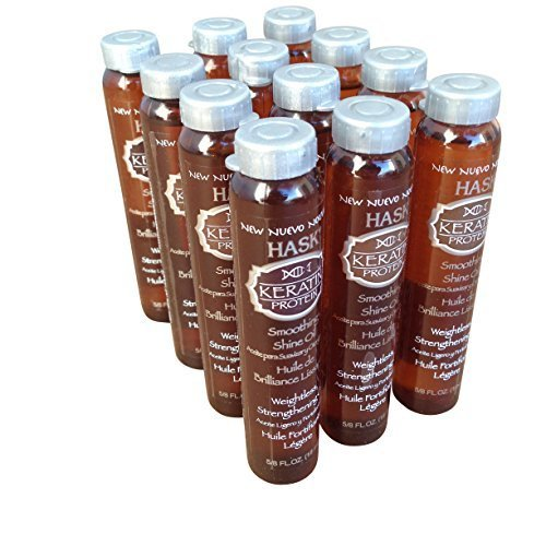 Hask Vials Keratin Protein Smoothing Shine Oil (12 Pieces)