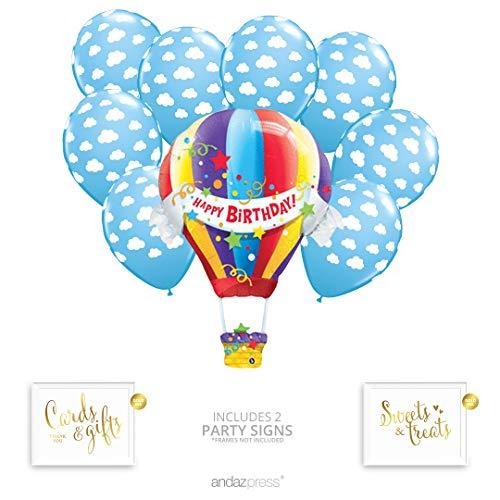Andaz Press Hot Air Balloon Party Balloon Bouquet