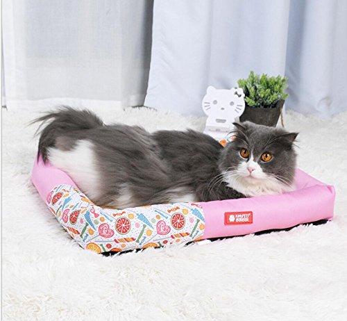 OHlive Confortevole Tappetino per Dormire Estivo per Cane con Gatto Gatto Gatto Impermeabile Oxford (rosa, L) 6338f4