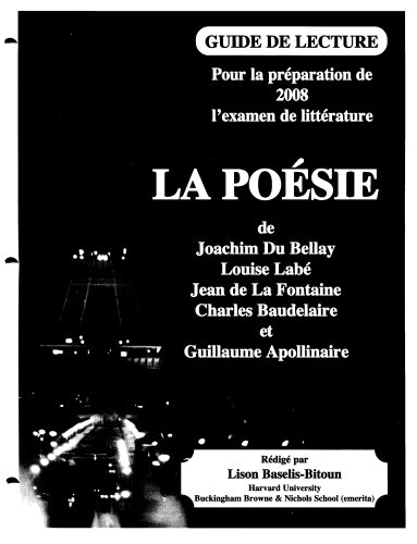 la-poesie-study-guide-for-the-advanced-placement-french-literature-exam-french-edition