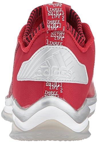 Adidas Heren Freak X Carbon Mid Honkbalschoen Power Rood / Wit / Rood