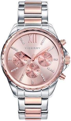 Viceroy 40930-73 - Reloj Cuarzo para Mujer, Correa de acero inoxidable, color Oro Rosa