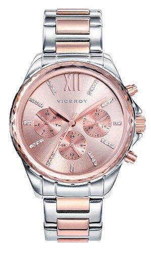 dc814b24938b Viceroy 40930-73 - Reloj Cuarzo para Mujer, Correa de acero inoxidable,  color Oro Rosa