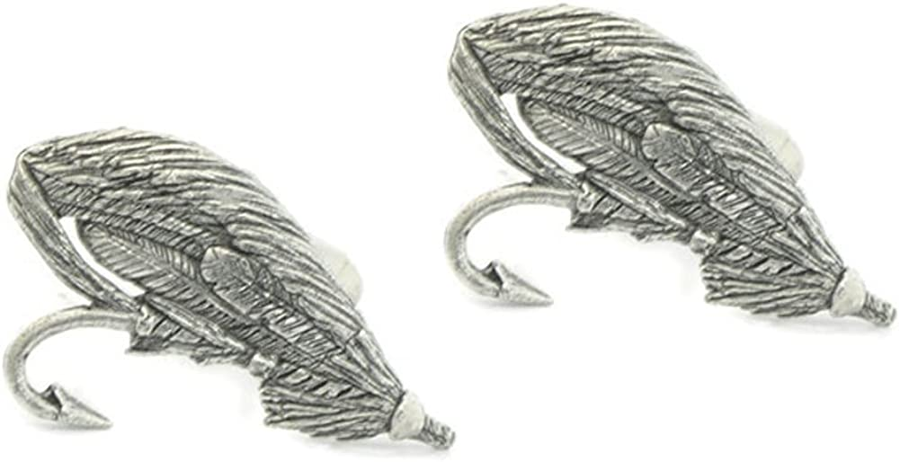 Harry Smith Pewter Fishing Lure Cufflinks