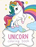 UNICORN coloring book: World of amazing unicorns. Coloring book for kids ages 4-8 years.