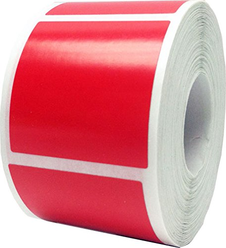 Red Square Color Coding Labels for Organizing Inventory 1 1/2 Inch Square 500 Total Adhesive Stickers On A Roll