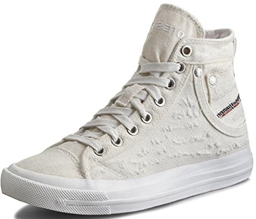 Diesel Exposure IV W White Womens Canvas Trainers Boots-7