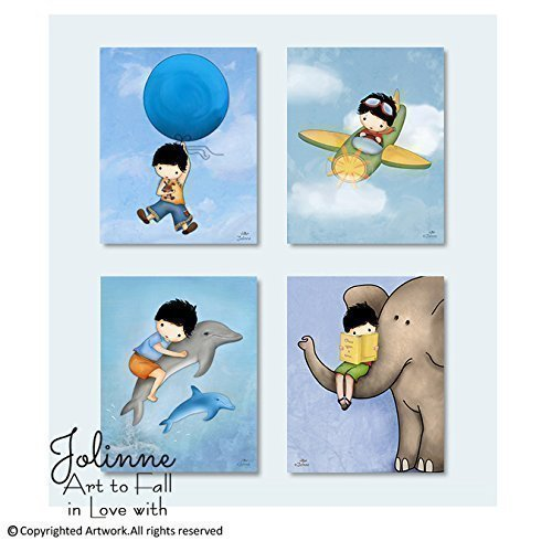 Posters for Boys Room Children's Bedroom Prints Kids Decoration Nursery Wall Art Set of