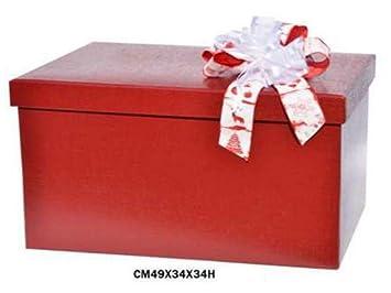 Caja decorativa para empaquetar regalos, con tapa (sin lazo), de cartón: Amazon.es: Hogar