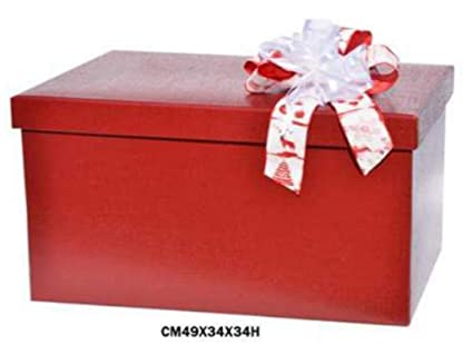 Caja decorativa para empaquetar regalos, con tapa (sin lazo), de cartón