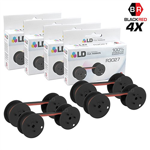LD Compatible Data Supply R3027 Set of 4 Black and Red Printer Ribbons by LD Products
