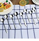 stainless flatware lot - 8Pcs/lot Stainless Steel Silver Cherry Blossom Spoon Flower Shape Tea Coffee Spoons Ice Cream Spoon Flatware Kitchen Gadgets