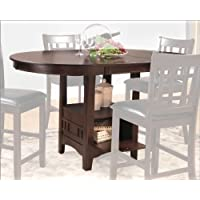 Home Elegance 2423-36 Junipero Counter Height Table in Dark Cherry