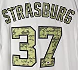 Stephen Strasburg Washington Nationals Autographed USMC Camo #37 Jersey PSA COA