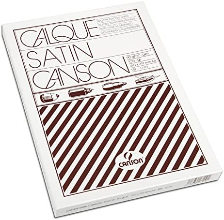 Canson - Paquete de papel de calco satinado (100 hojas, A4, 21 x ...