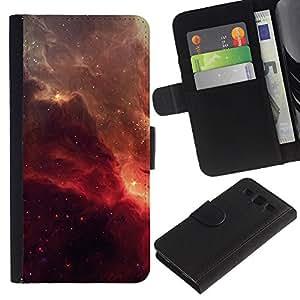 """A-type (Red Galaxy"""") Colorida Impresión Funda Cuero Monedero Caja Bolsa Cubierta Caja Piel Card Slots Para Samsung Galaxy S3 III i9300 i747"""