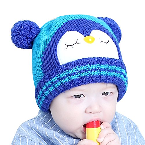 16c7dcef7bf IMLECK Kids Cute Cartoon Owl Winter Hat Toddler Warm Beanie Hat - Fits 3  months old to 2 years old. D