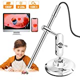 Digital Microscope USB, True 200x Magnification Handheld Soldering Microscope with Metal Stand and Case for Windows PC & Android Device (USB Microscope)