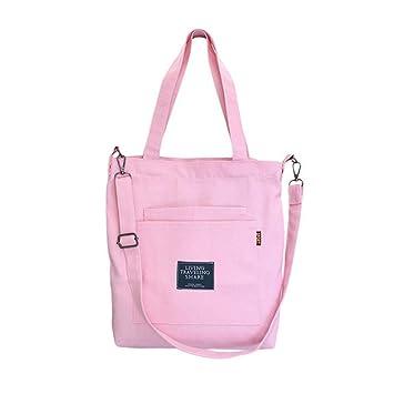 0371abf906323 Women Canvas Tote, Veyarien Casual Large Capacity Travel Totes Shoppers  Book Bags Crossbody Bag Handbag