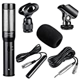 Neewer® Uni-Directional System Condenser Shotgun Interview Microphone+V Shape Dual Mount Bracket+160 LED Dimmable Video Light for Canon Nikon Sony Olympus Pentax Panasonic and Other HDSLRs