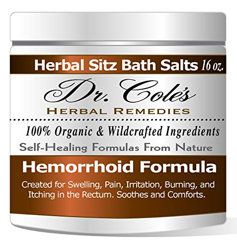 Dr. Coles Hemorrhoid Sitz Bath Treatment: Organic, Herbal Bath Salts That Soothe Itching, Swelling And Pain Related to Hemorrhoids. Safe For All Ages. For Use In Small Sitz Bath Basin Or Bath Tub.