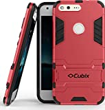 Cubix Case for Google Pixel XL Kickstand Back Cover - Red