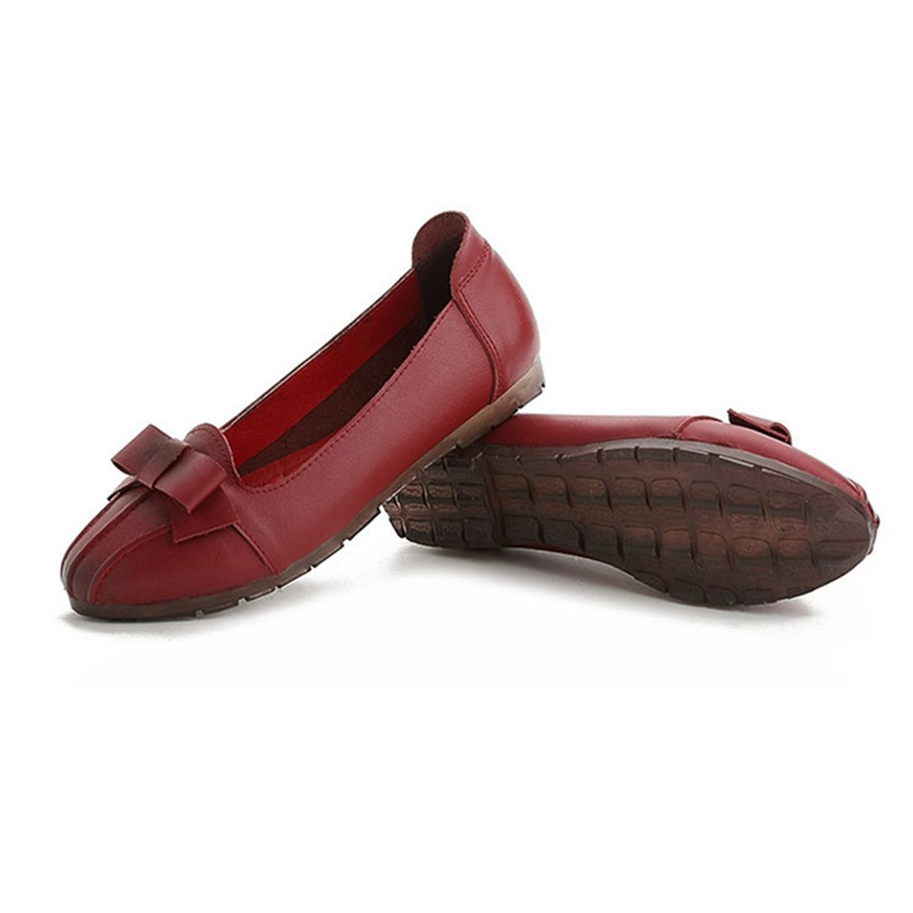 636b3814dd3a ... GIY Women s Classic Penny Loafer Bowknot Wingtips Pointed Toe Comfort  Flats Slip On Bowknot Loafer Dress ...