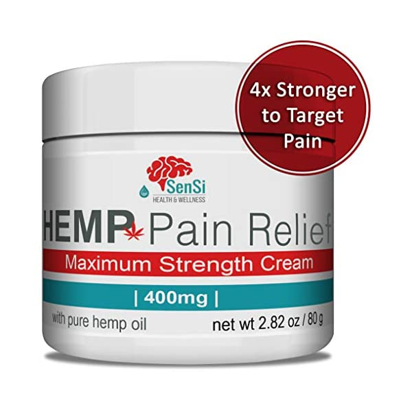 Sensi Natural Hemp Oil Cream 4000mg | Relieves Muscle Joint Pain Aches Improves Sleep Stress Relief | Naturally Crafted Hemp Extract THC Free | Organic Relief for Stress, Rejuvenates Skin