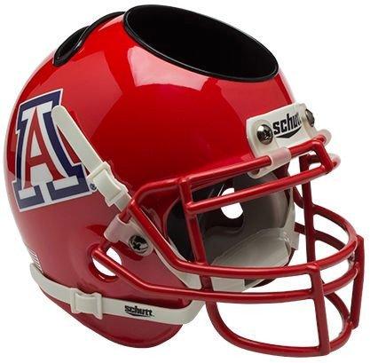 Ncaa Desk Wildcats (Arizona Wildcats Miniature Football Helmet Desk Caddy - Scarlet - NCAA Licensed - Arizona Wildcats Collectibles)