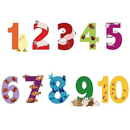 Chiffres Animaux Format 57 x 7 cm Stickers enfant