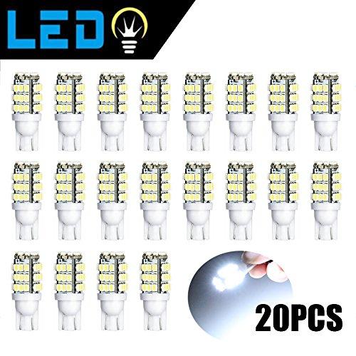 DGCUS 20 x RV Trailer T10 921 194 42-SMD 12V Car Backup Reverse LED Lights Bulbs Natural White (Natural (Type Natural)