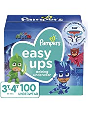 Pampers Potty Training Underwear for Toddlers, Easy Ups Diapers, Training Pants for Boys and Girls, Size 5 (3T-4T), 100 Count, Giant Pack (Packaging May Vary)