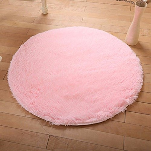 FIRSTLIKE 3-5 Days Delivery,100CM Rug Fluffy Rugs Anti-Skid Shaggy Area Rug Multi Colors Carpet Floor Mats Best for Dining Room Home Bedroom Decoration & Baby Child Kids - Class Delivery First Time Usps