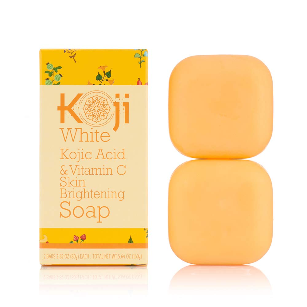 Koji White Kojic Acid & Vitamin C Skin Brightening Soap ( 2.82 oz / 2 Bars ) - Smooth And Soft Complexion for Face & Body: Beauty