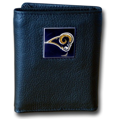 NFL St. Louis Rams Genuine Leather Tri-fold Wallet
