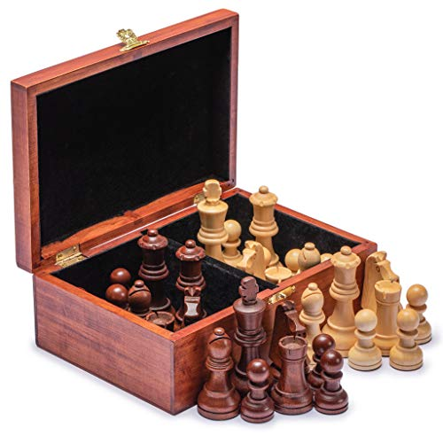 Husaria Staunton Tournament No.6 Chessmen with 2 Extra Queens and Wooden Box, 3.5-inch Kings