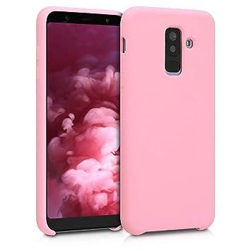 kwmobile Funda para Samsung Galaxy A6+/A6 Plus (2018) - Carcasa de [TPU] para teléfono móvil - Cover [Trasero] en [Rosa Palo Mate]