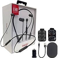 Beats by Dr. Dre BeatsX Wireless In-Ear Headphones W/MKK Car Adapter (Certified Refurbished) (Black)