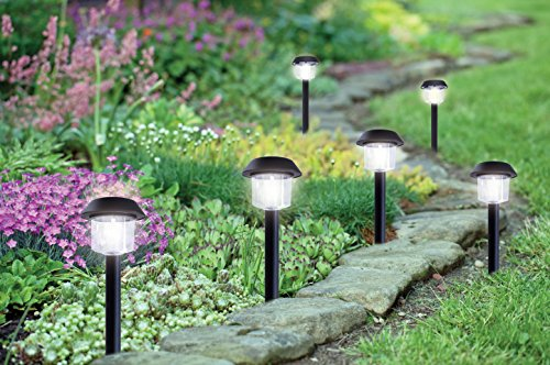 Solario Garden Decor Solar Powered Stake Lights Pack Of 6 Decorative Classic Lamps Highest
