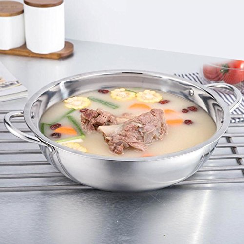 Soup & Stock Pots - 30cm Stainless Steel Pot Shabu Induction Cooker Gas Stove Compatible Home Cookware Soup Cooking - Shelf Hanger Large Rice Helmet Pots Instant Cooking Stainless Cover Ele