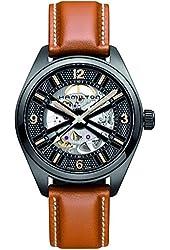 Hamilton H72585535 Khaki Black Dial Automatic Brown Leather Men's Watch