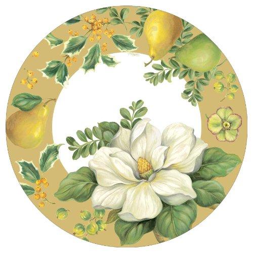 Plate Time Dinner Blossom (Entertaining with Caspari Magnolia Paper Dinner Plates, Pack of 8)