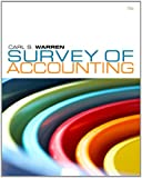 Bundle: Survey of Accounting, 5th + CengageNOW 1-Semester Printed Access Card, Carl S. Warren, 1111409285